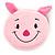 Ligth Pink Little Piggy Fabric Coin Purse/ Bag Charm for Kids - 10.5cm Width