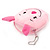 Ligth Pink Little Piggy Fabric Coin Purse/ Bag Charm for Kids - 10.5cm Width - view 3