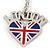 I Love London Keyring/ Bag Charm SOUVENIR - 9cm L - view 6