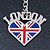 I Love London Keyring/ Bag Charm SOUVENIR - 9cm L - view 2