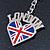 I Love London Keyring/ Bag Charm SOUVENIR - 9cm L - view 3
