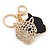 Crystal Tiger Keyring/ Bag Charm In Gold Plating - 11cm L - view 7