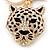Crystal Tiger Keyring/ Bag Charm In Gold Plating - 11cm L - view 6