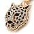 Crystal Tiger Keyring/ Bag Charm In Gold Plating - 11cm L - view 8