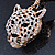 Crystal Tiger Keyring/ Bag Charm In Gold Plating - 11cm L - view 4