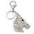 Clear Crystal Horse Head Keyring/ Bag Charm In Silver Tone - 12cm L - view 6
