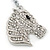 Clear Crystal Horse Head Keyring/ Bag Charm In Silver Tone - 12cm L - view 2