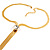 Gold Plated Hollywood Style Long Tassel Necklace