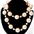 Multi-Sized Lustrous Pearl Style Necklace