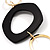 Statement Long Black Plastic Fashion Necklace - view 4