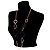 Statement Long Black Plastic Fashion Necklace - view 6