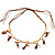 Wooden Nugget Feather Long Suede Cord Safari Necklace - view 2