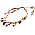 Wooden Nugget Feather Long Suede Cord Safari Necklace - view 3