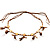 Wooden Nugget Feather Long Suede Cord Safari Necklace - view 12