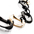 Long Black Large Twisted Oval Link Fashion Necklace - view 6