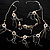 Romantic Long Multi Wooden &amp; Metal Beads Silver Tone Chain Fashion Necklace 