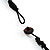 Wood Nugget Cord Necklace - view 4