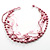 7-Tier Pearl &amp; Pink Sparkle Cord Necklace