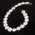 Lustrous Ivory Shell Disk Necklace On The Cotton Thread - view 2