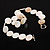 Lustrous Ivory Shell Disk Necklace On The Cotton Thread - view 4