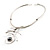 Stainless Steel Hammered Hematite Tribal Choker Necklace - view 13