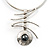 Stainless Steel Hammered Hematite Tribal Choker Necklace - view 1