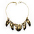 Brass Snake Pattern Ethnic Choker Necklace