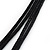 Black Enamel Teardrop Crystal Cord Pendant Necklace - view 5