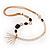 Long Gold Tone Multistrand Tassel Necklace
