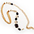 Long Gold Tone Multistrand Tassel Necklace - view 10
