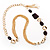 Long Gold Tone Multistrand Tassel Necklace - view 5