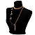 Long Gold Tone Multistrand Tassel Necklace - view 6