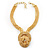 Egyptian Style Gold Tone Choker Necklace - view 2