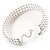 3 Tier Glass Pearl Collar Necklace In Silver Plating (Snow White) - view 7