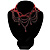 Victorian Style Hot Red Beaded Choker - view 2
