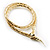 Mesmerizing Gold Tone Snake With Red Eyes Choker Necklace - view 6