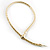 Mesmerizing Gold Tone Snake With Red Eyes Choker Necklace - view 7