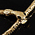 Mesmerizing Gold Tone Snake With Red Eyes Choker Necklace - view 5