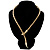 Mesmerizing Gold Tone Snake With Red Eyes Choker Necklace