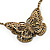 Long Antique Bronze Butterfly Necklace - view 3