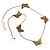 Long Antique Bronze Butterfly Necklace - view 4