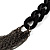 Catwalk Style Long Black Multichain Necklace (100cm Length) - view 6