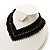 V-Shape Black Bead Choker Necklace
