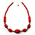 Glamorous Red Nugget Ceramic Necklace - view 5