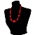 Glamorous Red Nugget Ceramic Necklace - view 8