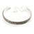 3-Row Austrian Crystal Choker Necklace (Silver&Clear) - view 2
