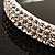 3-Row Austrian Crystal Choker Necklace (Silver&Clear) - view 5