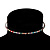 Thin Austrian Crystal Choker Necklace (Multicoloured) - view 4