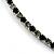 Thin Swarovski Crystal Choker Necklace (Clear & Black) - view 7