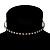 Thin Swarovski Crystal Choker Necklace (Clear & Black) - view 2